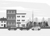 Galpão com áreas de oficinas, escritórios e dependências para empregados em terreno de 400 m².