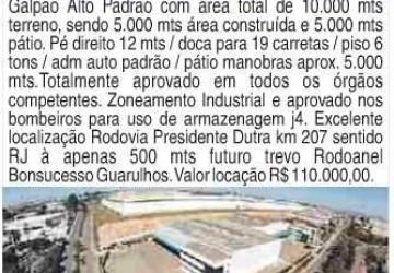 Área Industrial para Locação em Guarulhos, Bonsucesso