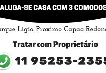 Alugo casa com 3 cômodos por R$: 500,00 Próximo Metrô Capão Redondo