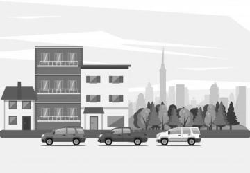 Prédio Residencial 3 pavimentos 202m² de área construído, 6 vagas garagem