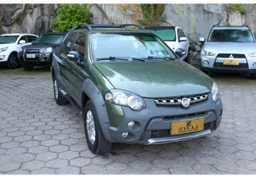 FIAT STRADA 1.8 ADVENTURE LOCKER CD 8V, Florianópolis - SC, 2013, VERDE, GNV + Flex