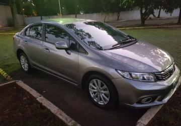 HONDA CIVIC 2.0 LXR SEDAN 16V 4P, São Paulo - SP, 2014, CINZA, Flex, Automático